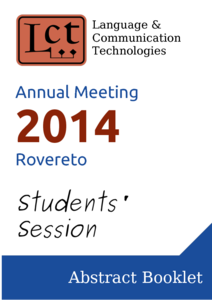 LCT Annual meeting 2014 - Rovereto